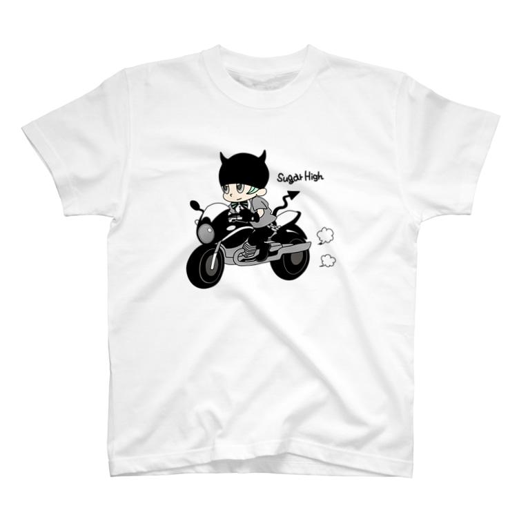 sugar highのLittle devil & motorbike T-shirts