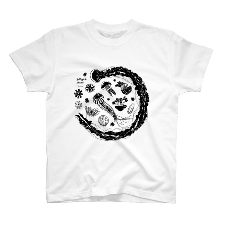 Hi*roomのJellyfish planet(クラゲの惑星) T-shirts