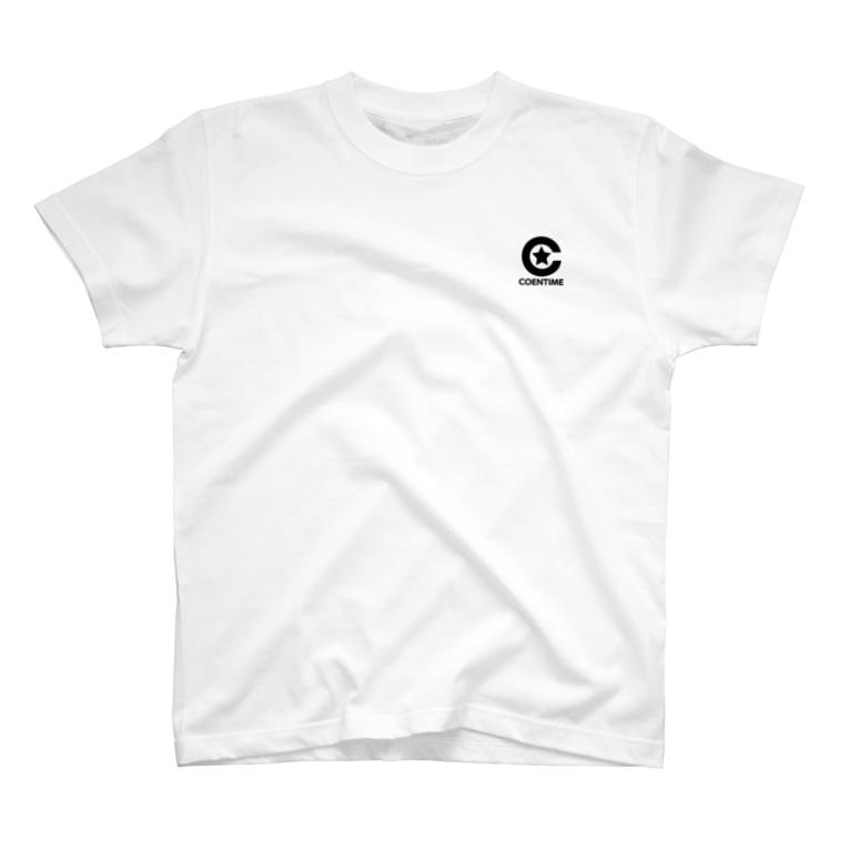 サワダシンヤのコエンタイムロゴ[刷色:黒] T-shirts