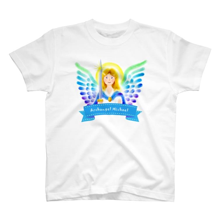 Angel channeling Art 天使のお部屋の大天使ミカエル T-shirts