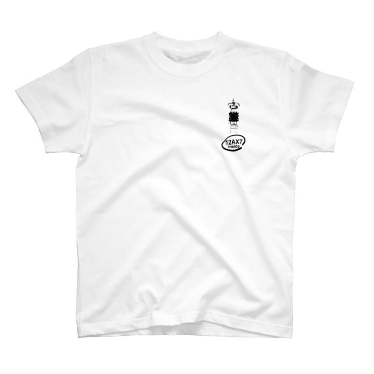 173H Designの真空管12AX7黒 T-shirts