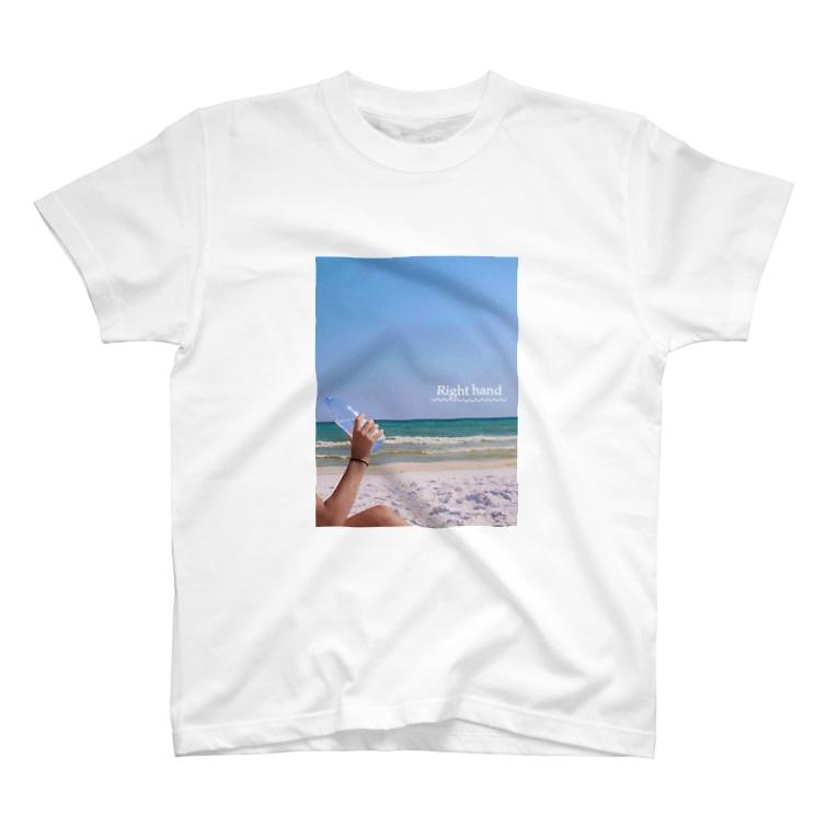 yurikatominagaのRight hand T-shirts