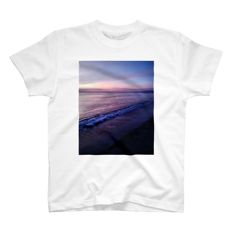 かごしまエモいぜのサンセットビーチ パープル T-shirts