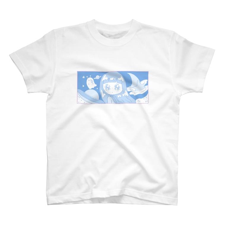 ningen(ニンゲン)の女の子とポヨポヨ星人 T-shirts