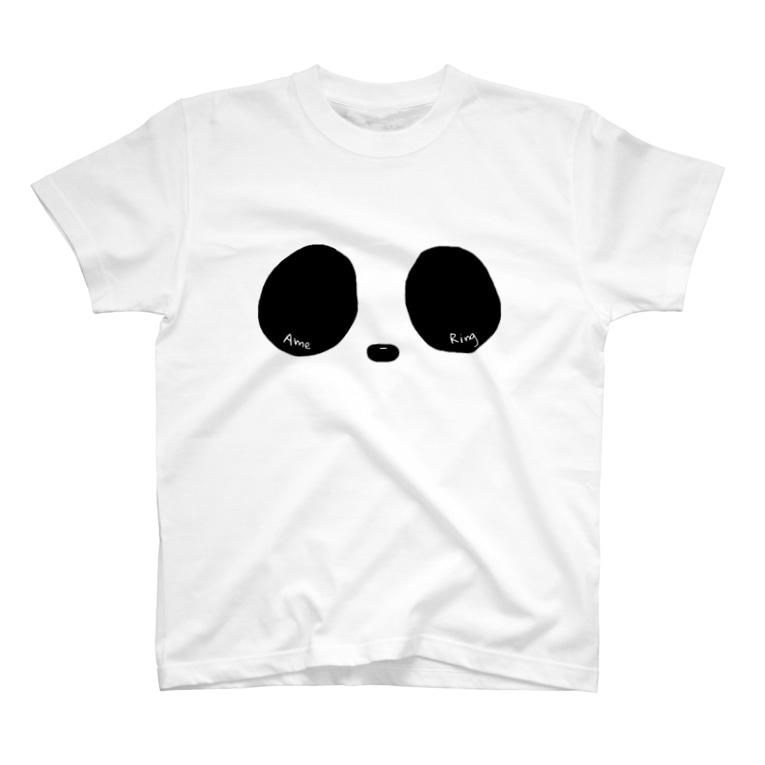Ame-RingsのRing Eye(モノクロ) T-shirts