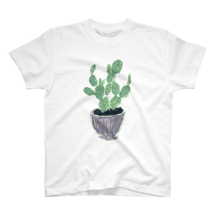 aeiuoのうちわさぼてん T-shirts