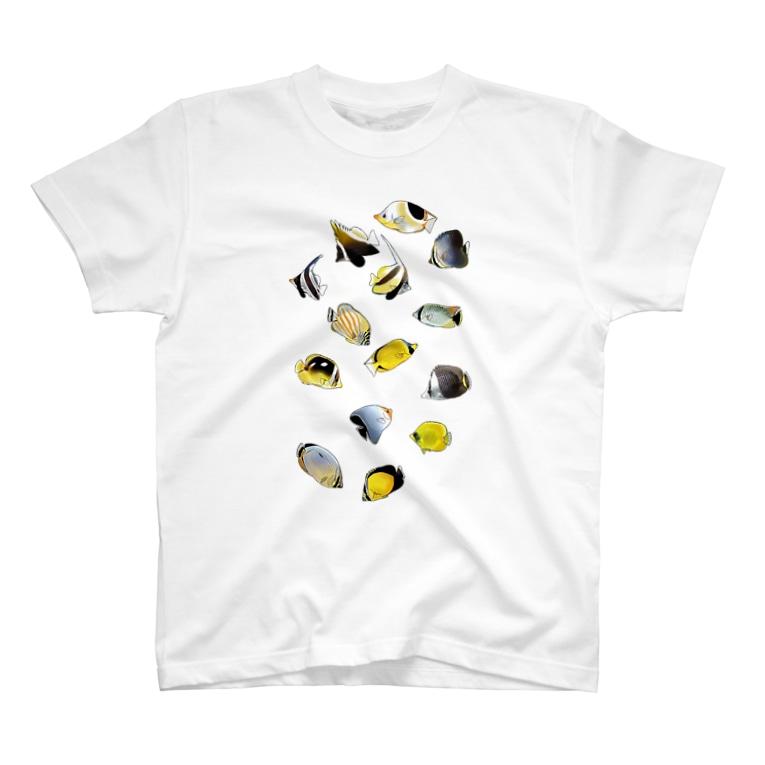 K′z SHOPのチョウチョウウオ大集合 T-shirts