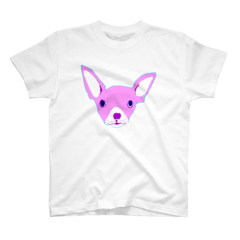 NIKORASU GOのPINKちわわ T-shirts