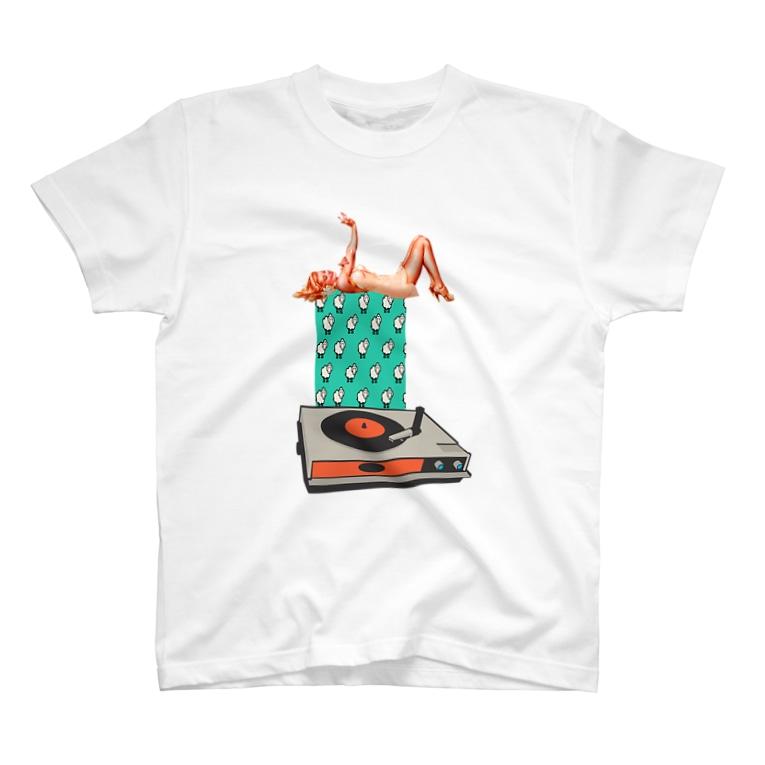 人生やり直しのひつじとレコードと女 T-shirts