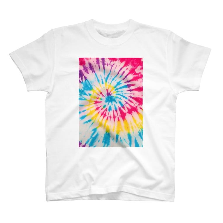 H2Styleのレインボータイダイ T-Shirt