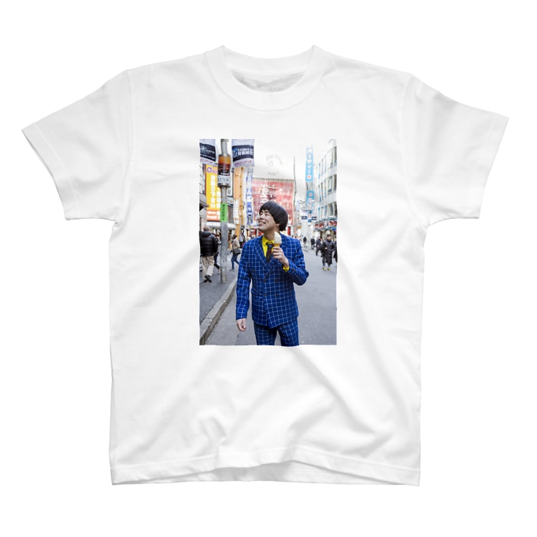 サツマカワRPGのサツマカワRPGがソフトクリームを買ってもらってご機嫌Tシャツ T-shirts