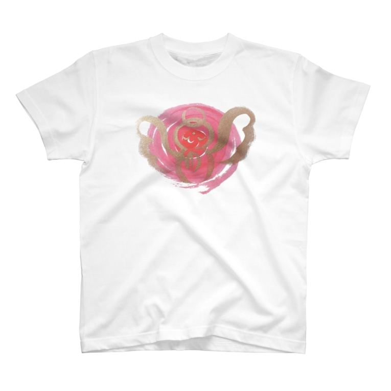 🍀森葉子グッズ🍀のお守り絵「ほっとけさん」透過3 T-shirts