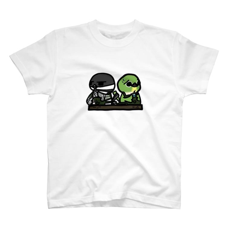 庭にくるコトリからのことり喫茶珈琲牛乳 Tシャツ T-shirts