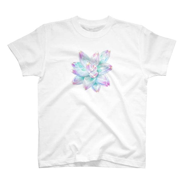 megu0328の多肉植物 パキフィツム T-shirts