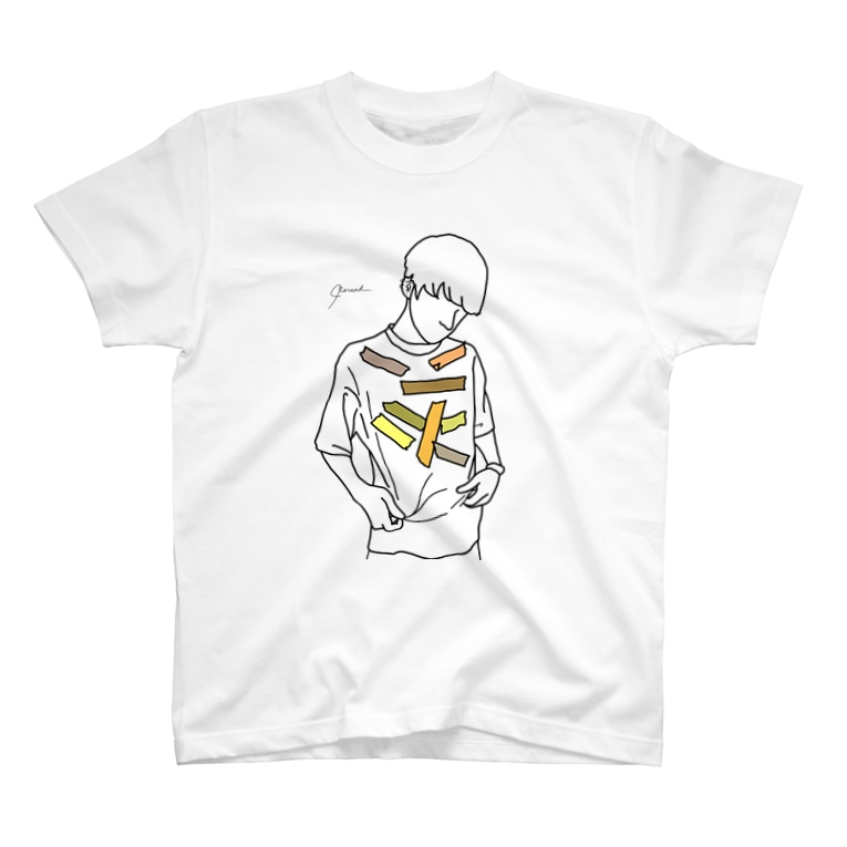 Rereadの【レッテル yellow】 T-shirts