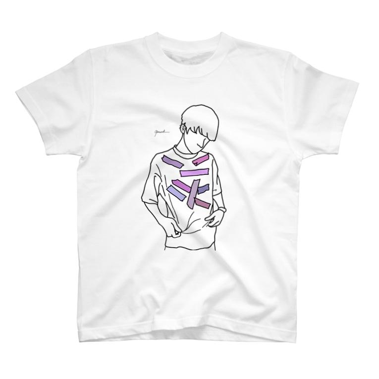 Rereadの【レッテル purple】 T-shirts