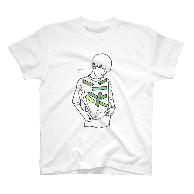 Rereadの【レッテル green】 T-shirts