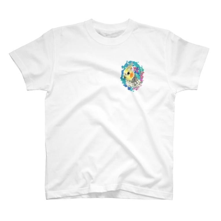 *えいぷりる どぎぃ工房*のパールのオカメちゃん T-shirts