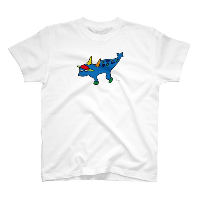 にせんちめんたるのツノデサスヨサウルス (大きめ) T-shirts