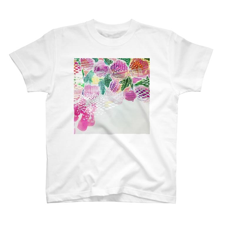 peonicの芍薬桃苺 T-shirts