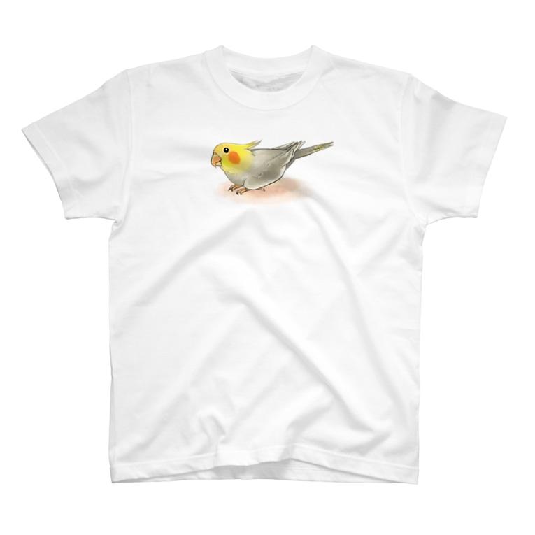 まめるりはことりのオカメインコ レキ【まめるりはことり】 T-shirts