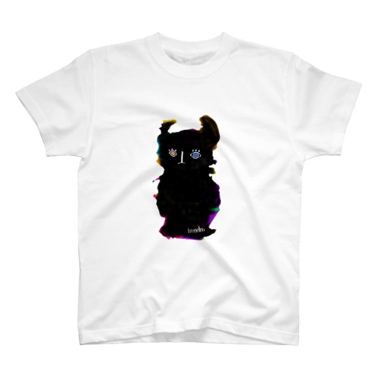 色音色のTシャツ屋さん ironeiro T-shirt shopのモコモコアクマ T-shirts