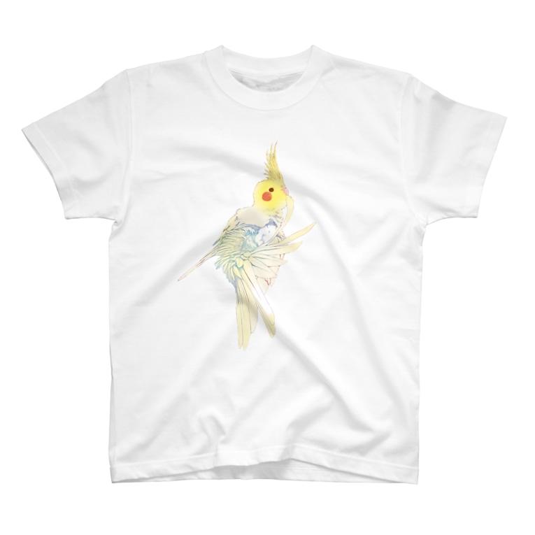 オカメインコ定点観測の尾羽のお手入れオカメインコ T-shirts