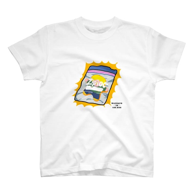 わちゃぽ宇宙人のジップロックにとじこめられた T-shirts