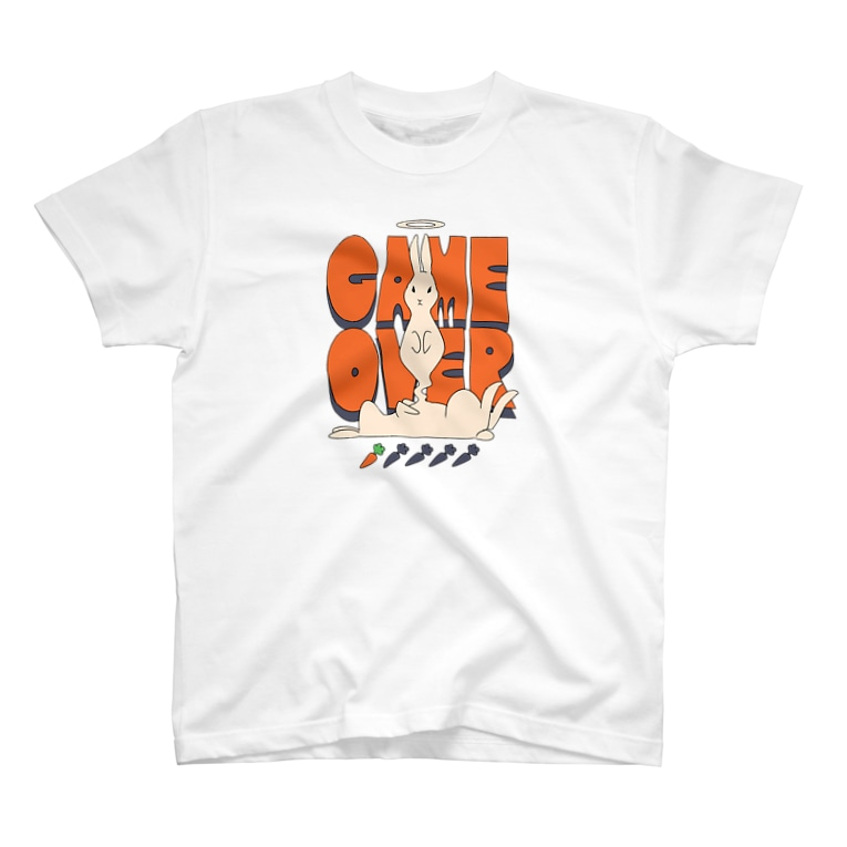 ねこぜもんのGAME OVER T-shirts