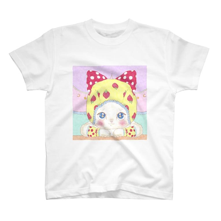 Noruneko-Yaの目力つよめTシャツ T-shirts