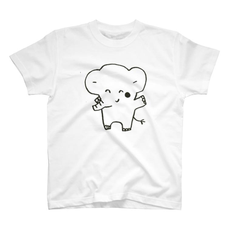 ゴキゲンサンショップのぞうさんモノクロ T-shirts