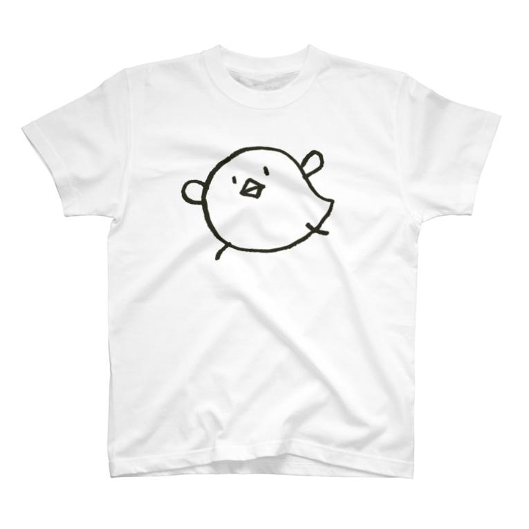 ゴキゲンサンショップのくあ鳥モノクロ T-shirts