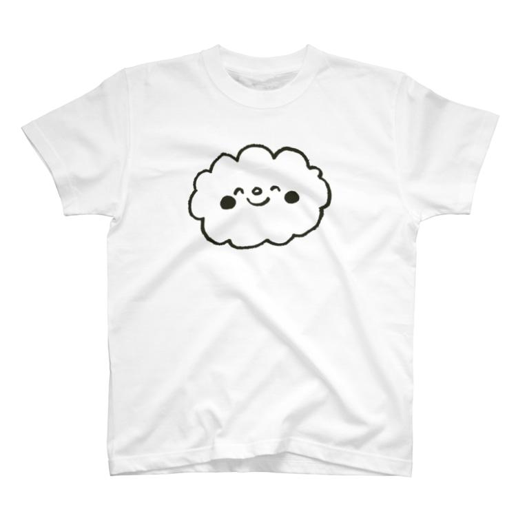 ゴキゲンサンショップのくもさんモノクロ T-shirts