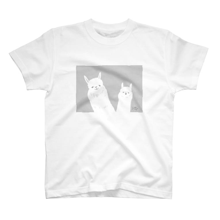 sunokko designの勝ち誇りアルパカ T-shirts