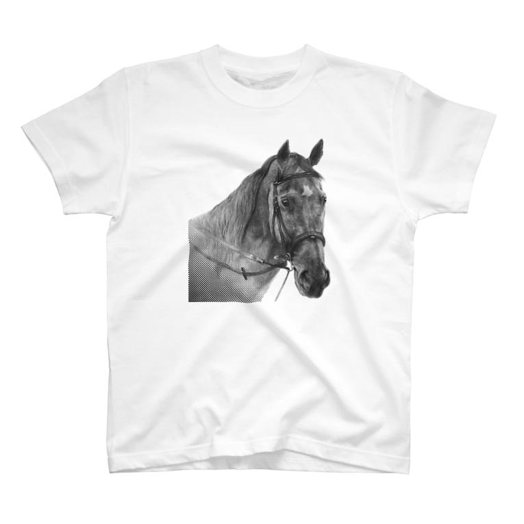 馬の絵の画家 斉藤いつみの馬の素描Tシャツ7 T-shirts