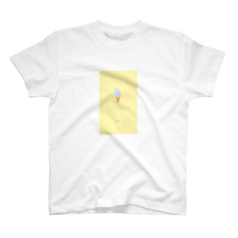 はるなつの溶けたアイスクリーム T-shirts