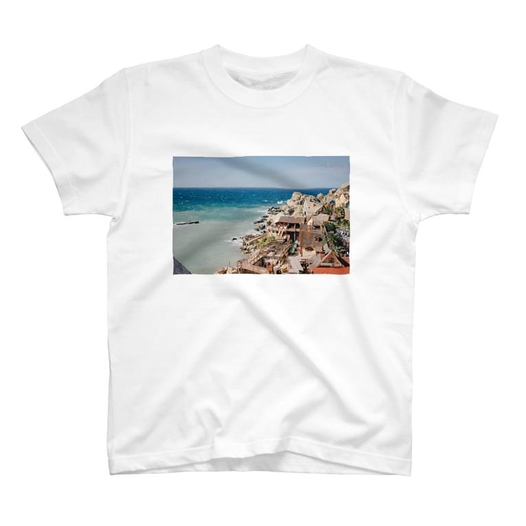 tayumosaのポパイの村 T-shirts