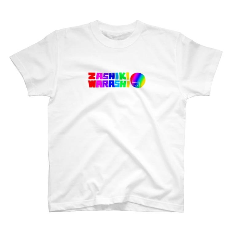 ZASHIKIのざしきわらしロゴT(虹) T-shirts