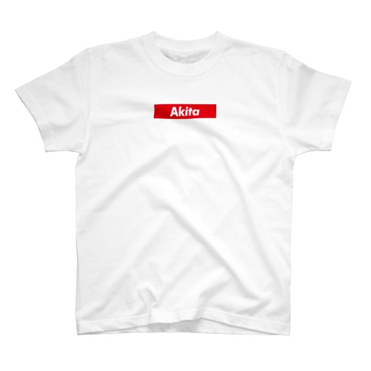 Yellow_BlluのAkita T-shirts