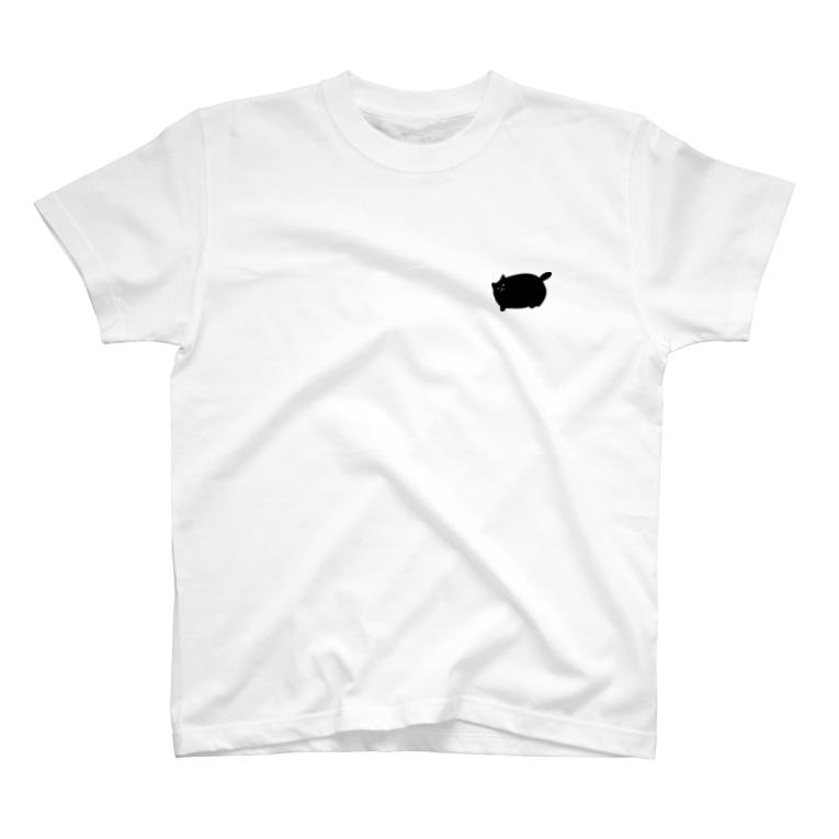 ニャポハウスショップ の限定ニャポポT(バックプリント有) T-shirts