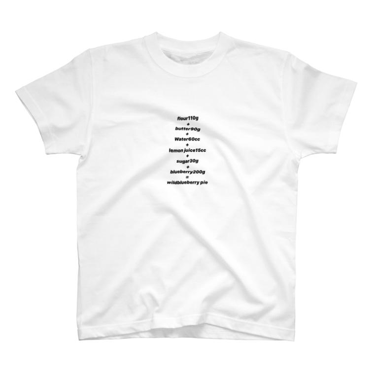 YoshiYoshiのブルーベリーパイの材料 T-shirts