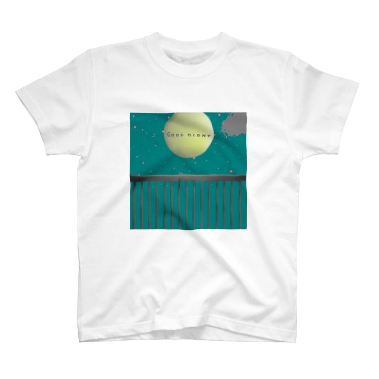 いつまでも子供のままの眠れぬ月夜。virtual T-shirts