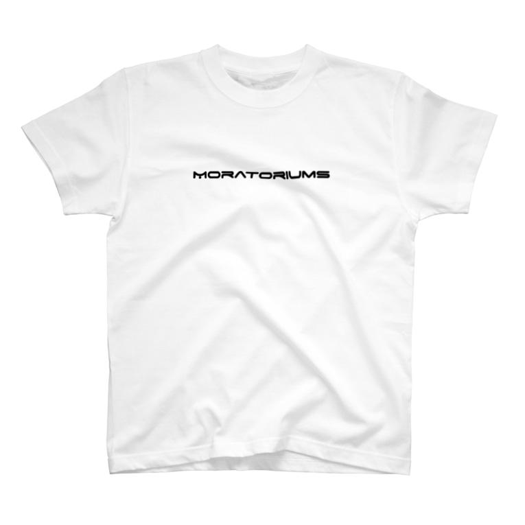 Moratoriums(モラトリアムズ)のMoratoriums-simple style(White edition) T-shirts