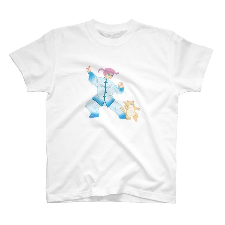 Gu-nishi storeのレッツカンフーちゃん T-shirts