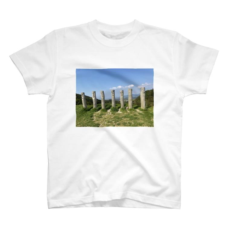 kawachu5の顔ポール T-shirts