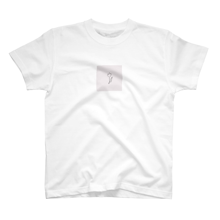 rilybiiの線画チューリップ*pink T-shirts