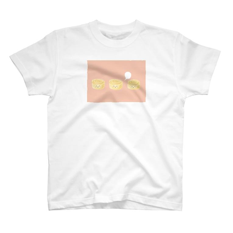 なでしこ@デザインの3個のたまご焼きちゃん T-shirts