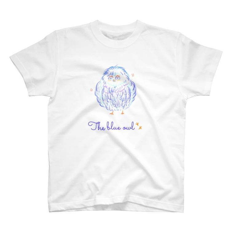 pokarin128のThe blue owl ? T-shirts
