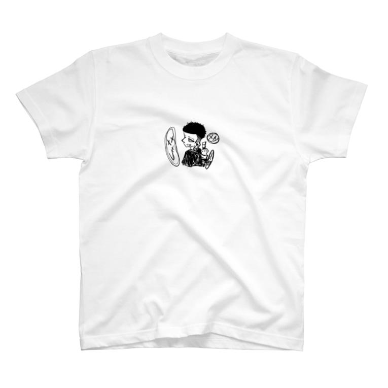 山川大輝の fuck T-shirts