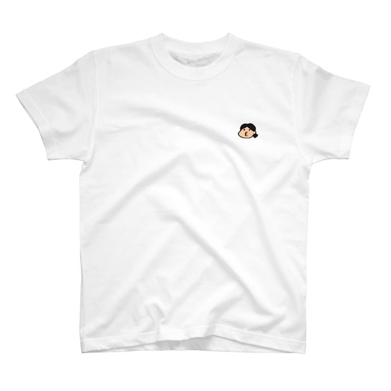 hobbymanの大納言もなか ワンポイントロゴTシャツ T-shirts